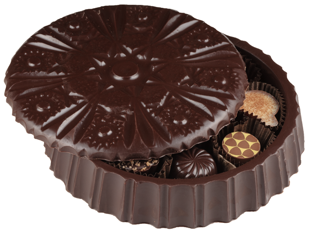 Round Chocolate Candy Dish